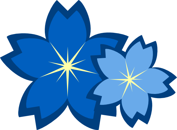 Blue Flowers Clip Art At Clker Com   Vector Clip Art Online Royalty