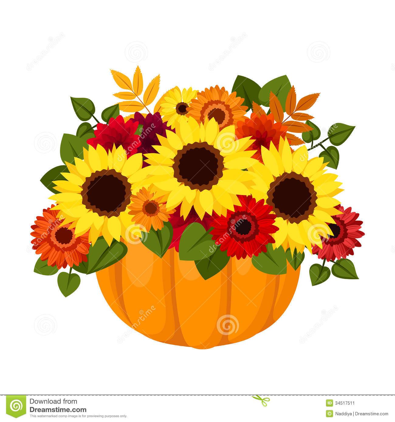 Fall Flower Arrangements Clipart - Clipart Kid