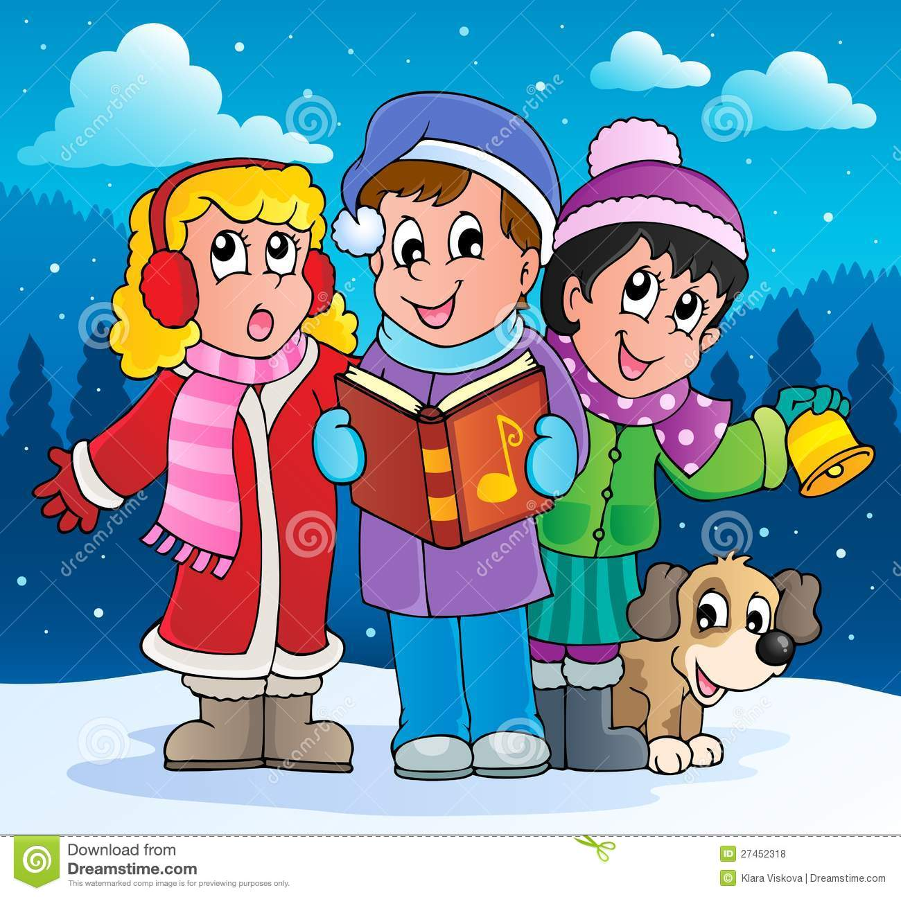 Christmas Carol Clipart - Clipart Suggest