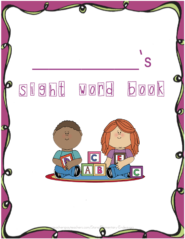 Cloud  Free Language Arts Lesson    Kindergarten Sight Word Book