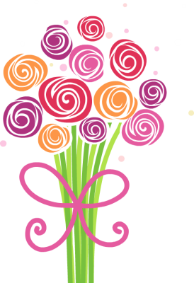Cute And Fun Bouquet Of Hand Drawn Flowers   Free Clip Arts Online
