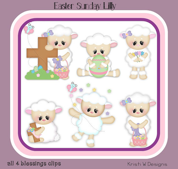 Easter Sunday Lilly   Clipart   Clip Art   Digital Graphics