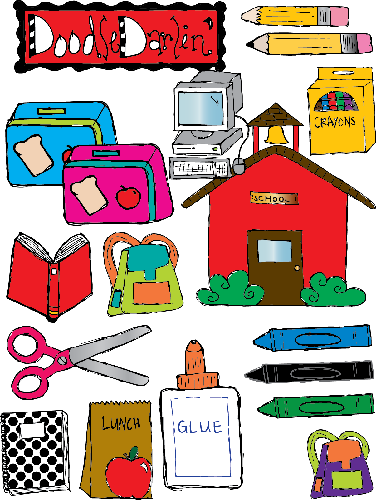 Go back images for school materials clipart