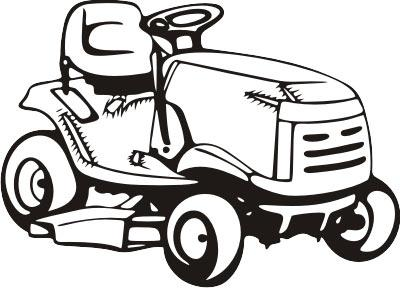 Lawn Mower Clip Art Riding Lawn Mower Clip Art