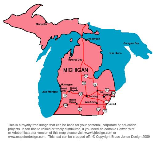 Michigan Map Clipart - Clipart Suggest