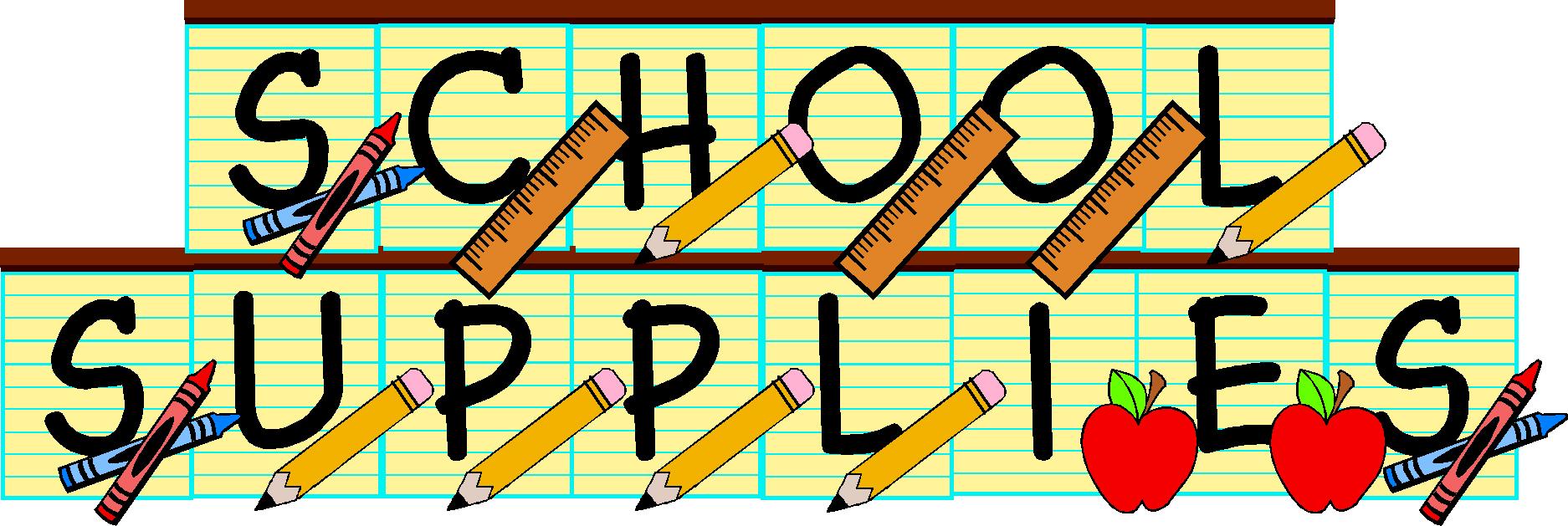 Clip Art School Supplies Clipart school supplies drive clipart kid mission registration transportation visting winship