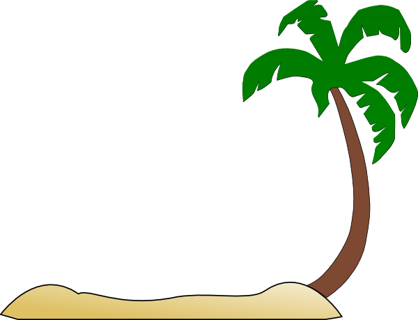 Palm Tree Sunset Clipart Beach Palm Tree Hi Png