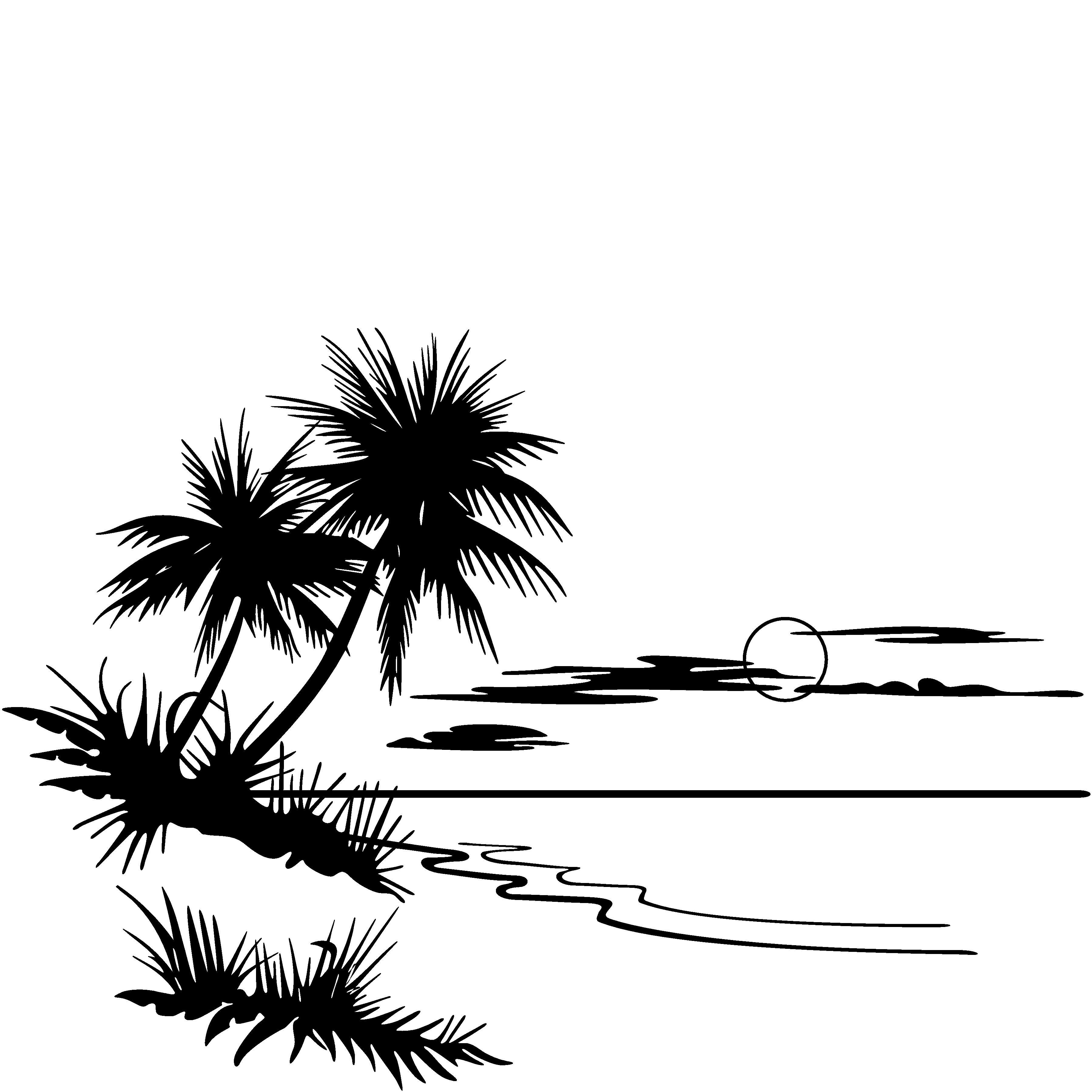 free clipart palm tree beach - photo #48