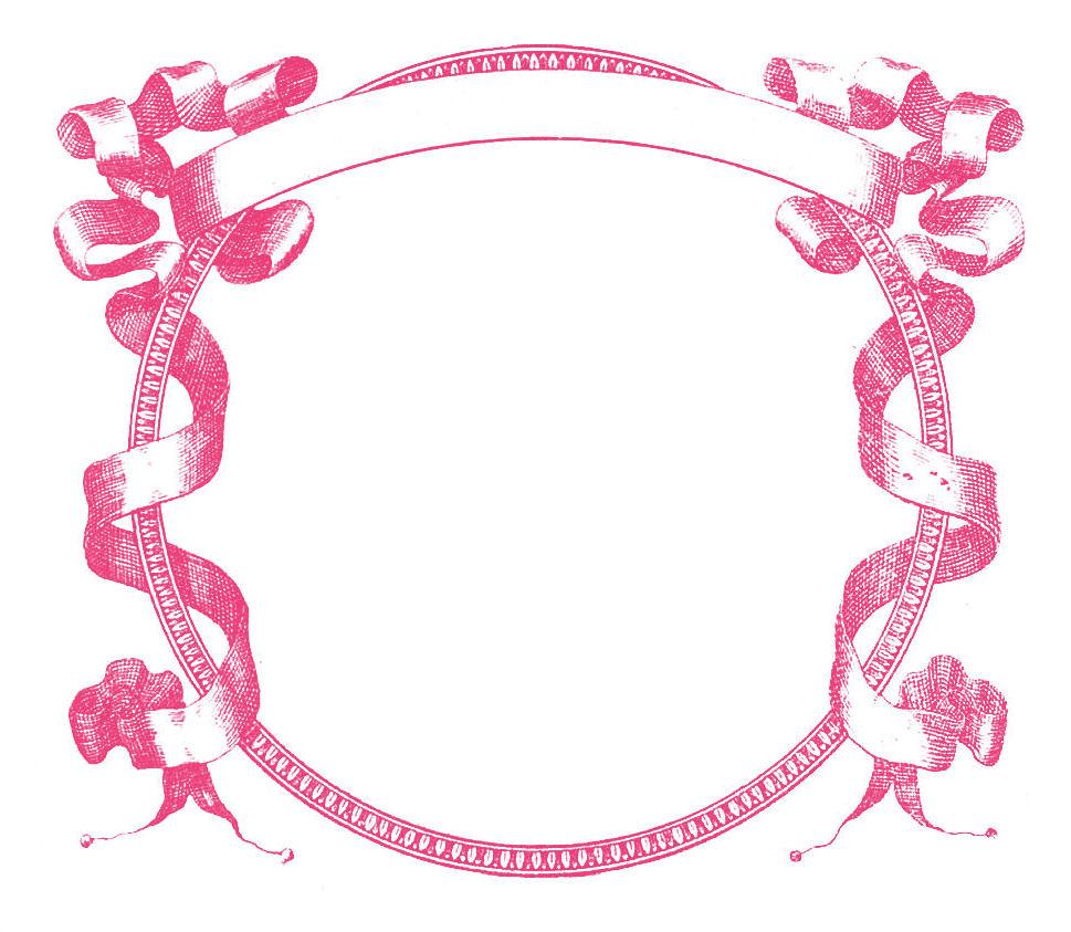 Pink And Black Flower Drawing Pink Flower Frame Clip...