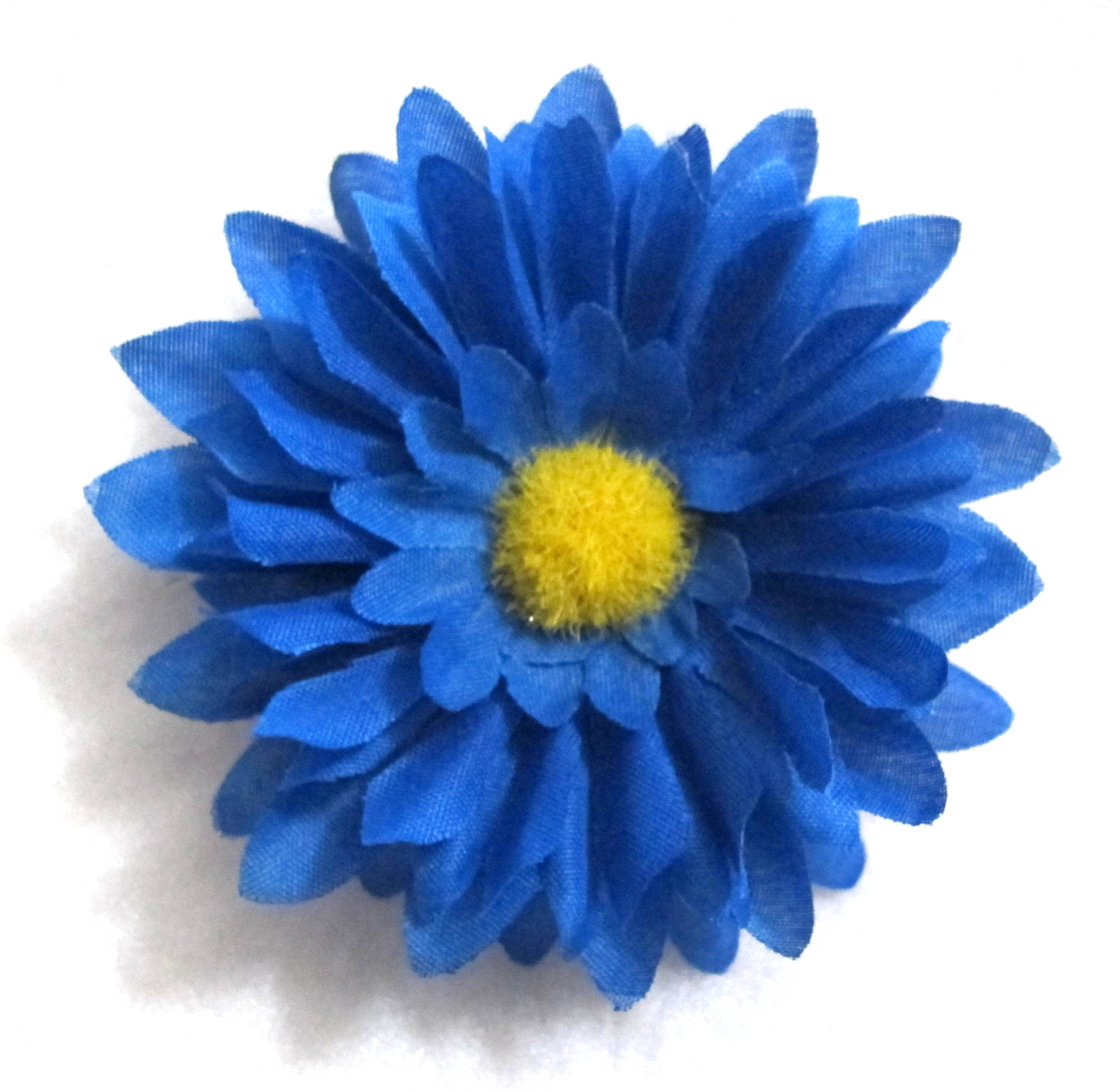 Royal Blue Daisy Hair Flower Clip Sold Out Inquire   4 00 Small Blue