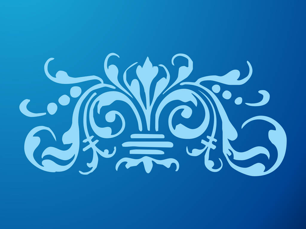 Royal Blue Flower Clip Art