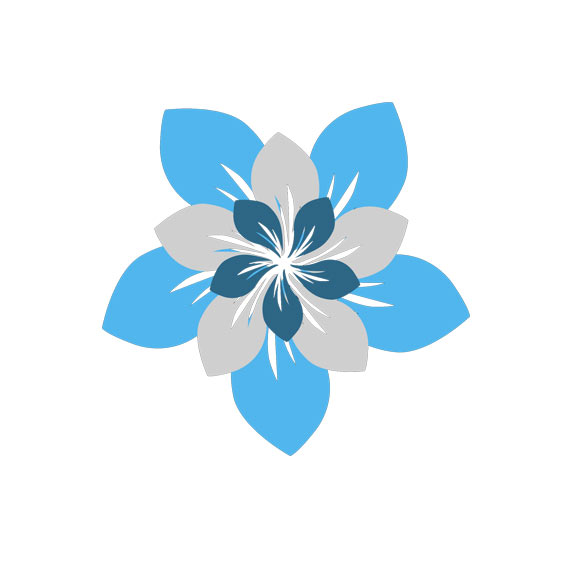 Royal Blue Flower Clipart