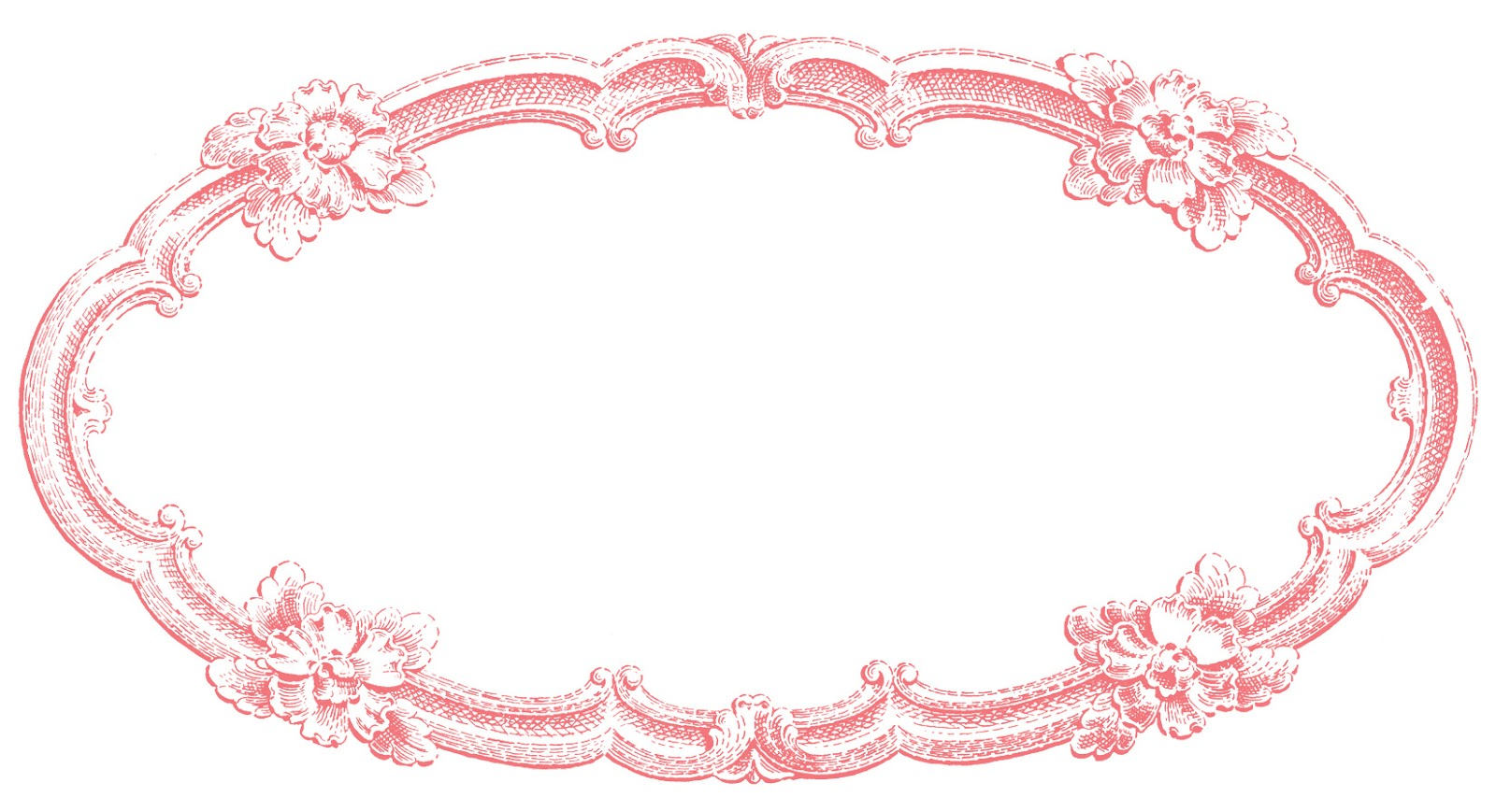 vintage clip art delicate oval frame the graphics fairy