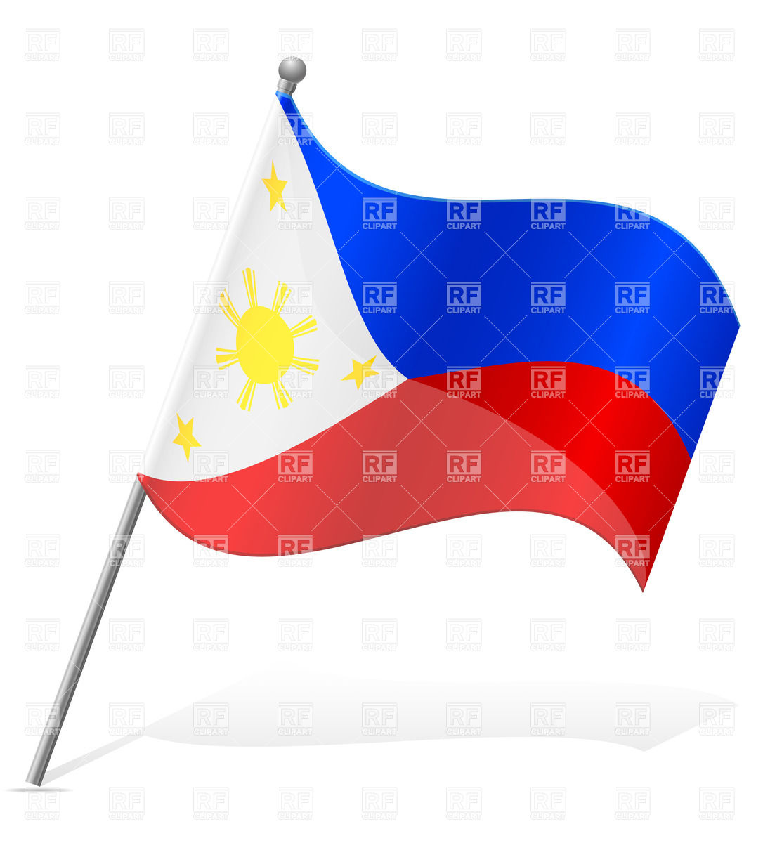 Wavy Flag Of Philippines Signs Symbols Maps Download Royalty Free
