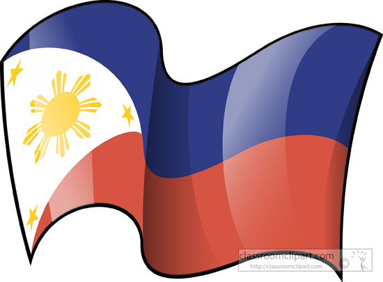 World Flags   Philippines Flag Waving 3   Classroom Clipart