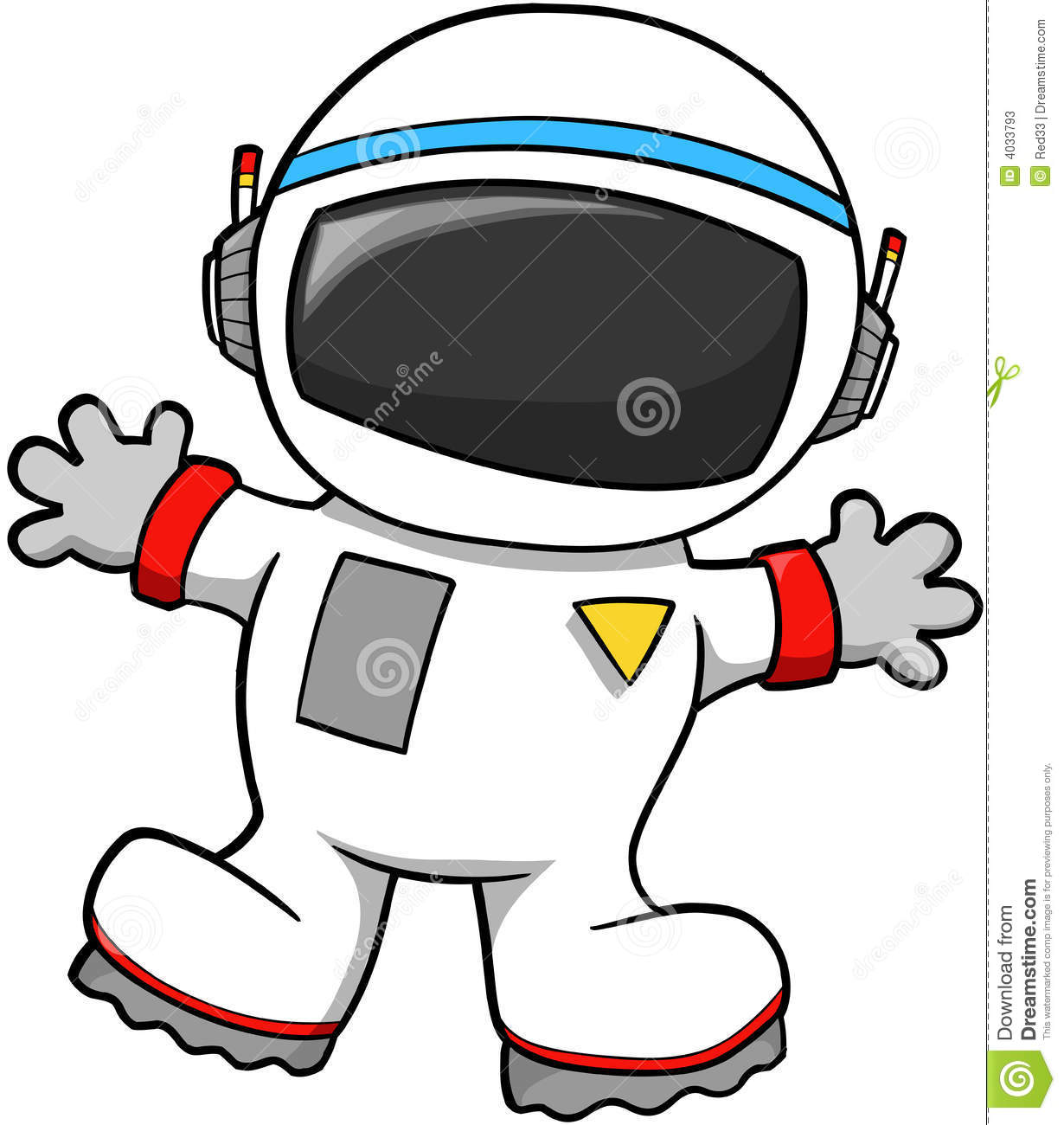 Astronaut Vector Stock Photos   Image  4033793