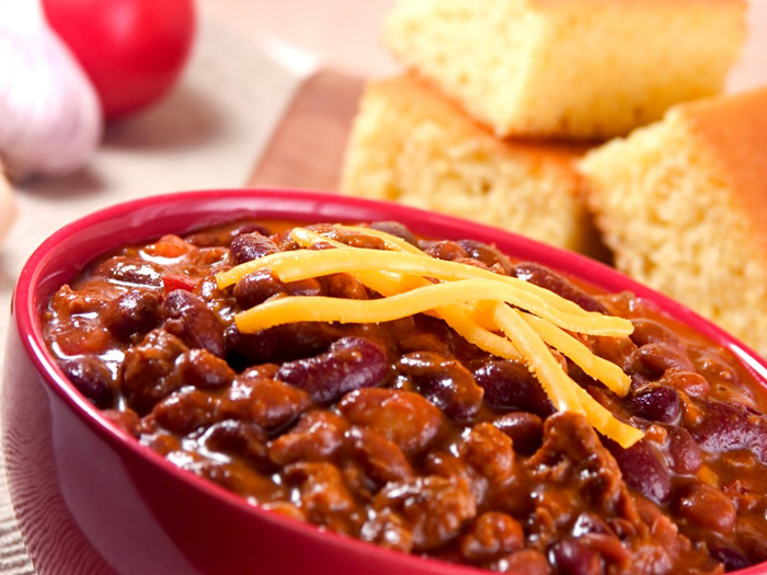 Beef Chili With Beans And Chocolate Plus 2 Styles Of Cornbread For