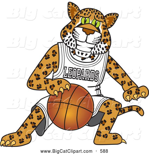 Big Cat Cartoon Vector Clipart Of A Cute Leopard Character School