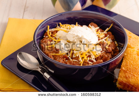 Chili And Cornbread Clipart Elk Meat Chili With Beans