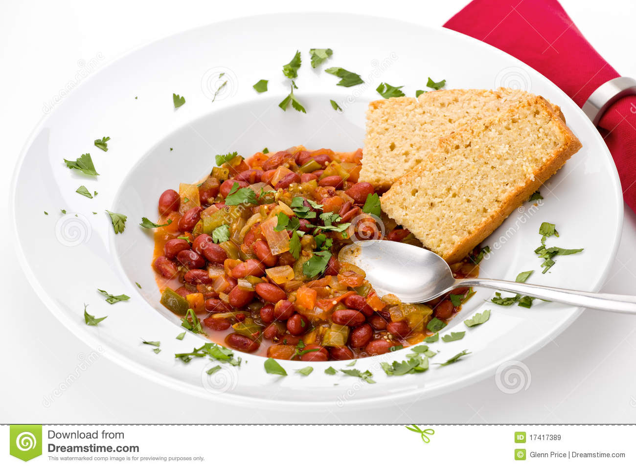 Chili With Cornbread Royalty Free Stock Images   Image  17417389