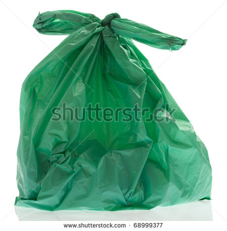 Clear Plastic Bag Clipart Rubbish Plastic Bag On A White