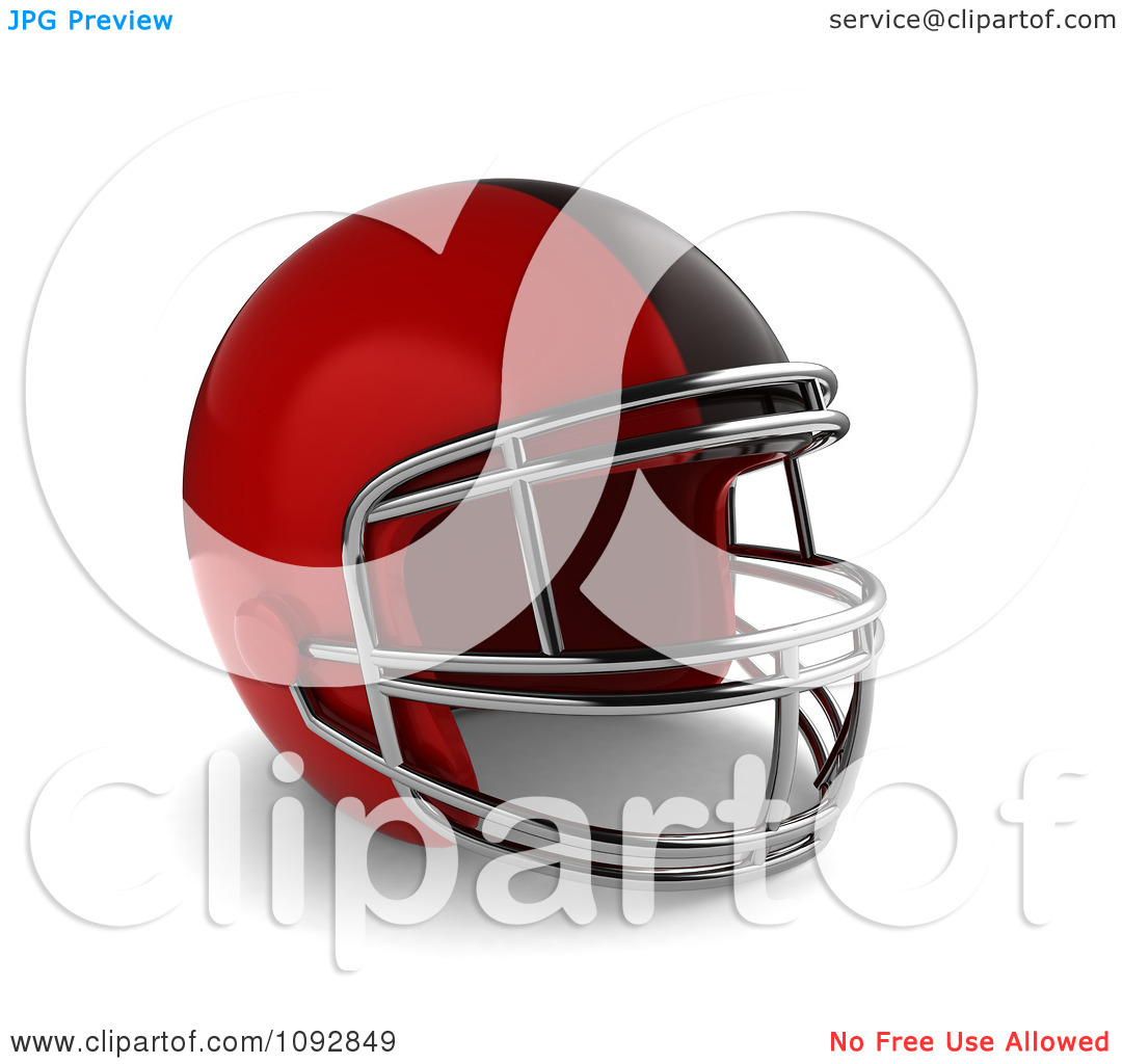 Clipart 3d Red Football Helmet   Royalty Free Cgi Illustration By Bnp