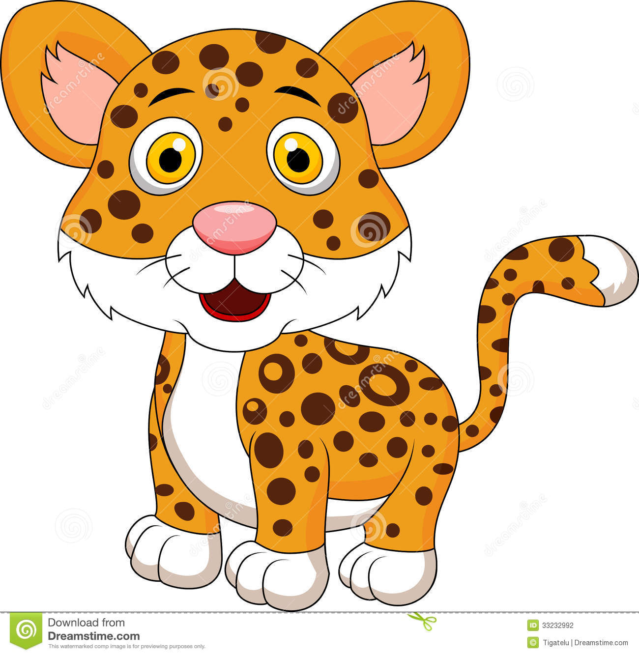 Cute Leopard Cartoon Stock Photography   Image  33232992