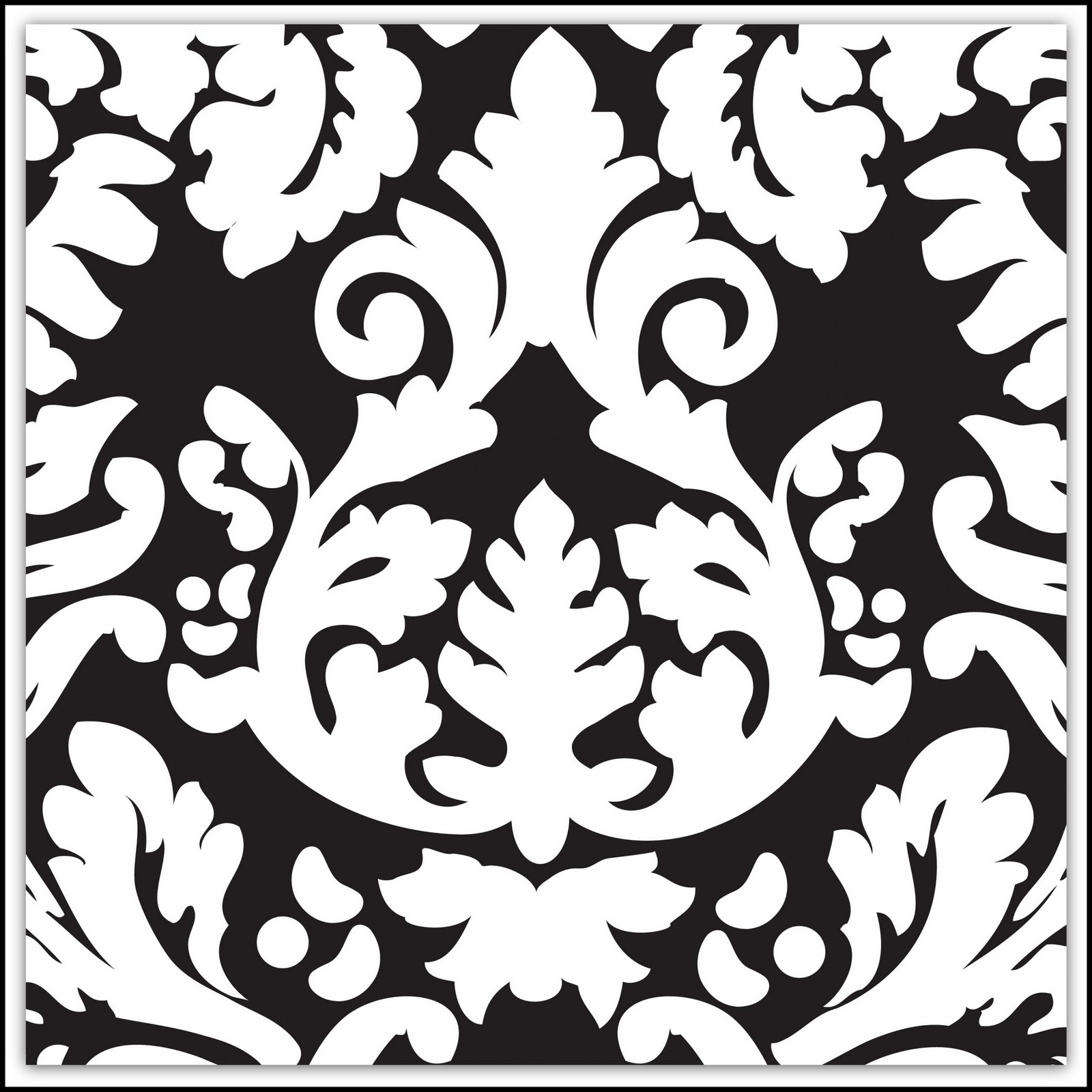 Damask Clip Art 081110 Clipart   Black Background And Some Ppt