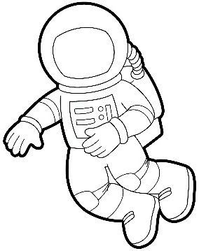 astronaut clip art black and white - photo #6