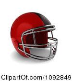Football Sports Helmet In Profile Football Helmet And Shoulder Pads