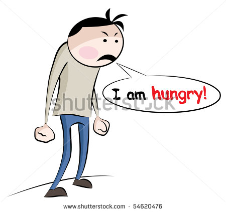 Hungry Person Cartoon Angry Hungry Person   Stock
