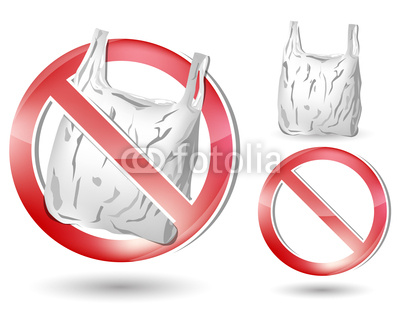 No Plastic Bag Sign Isolated On White Background Stock Image And