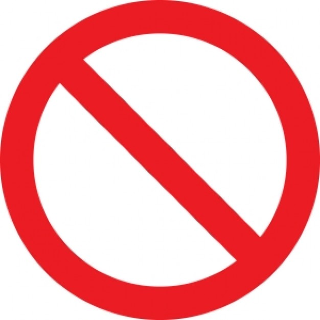 No Symbol Circle With Slash Prohibition Sign Photo   Free Download