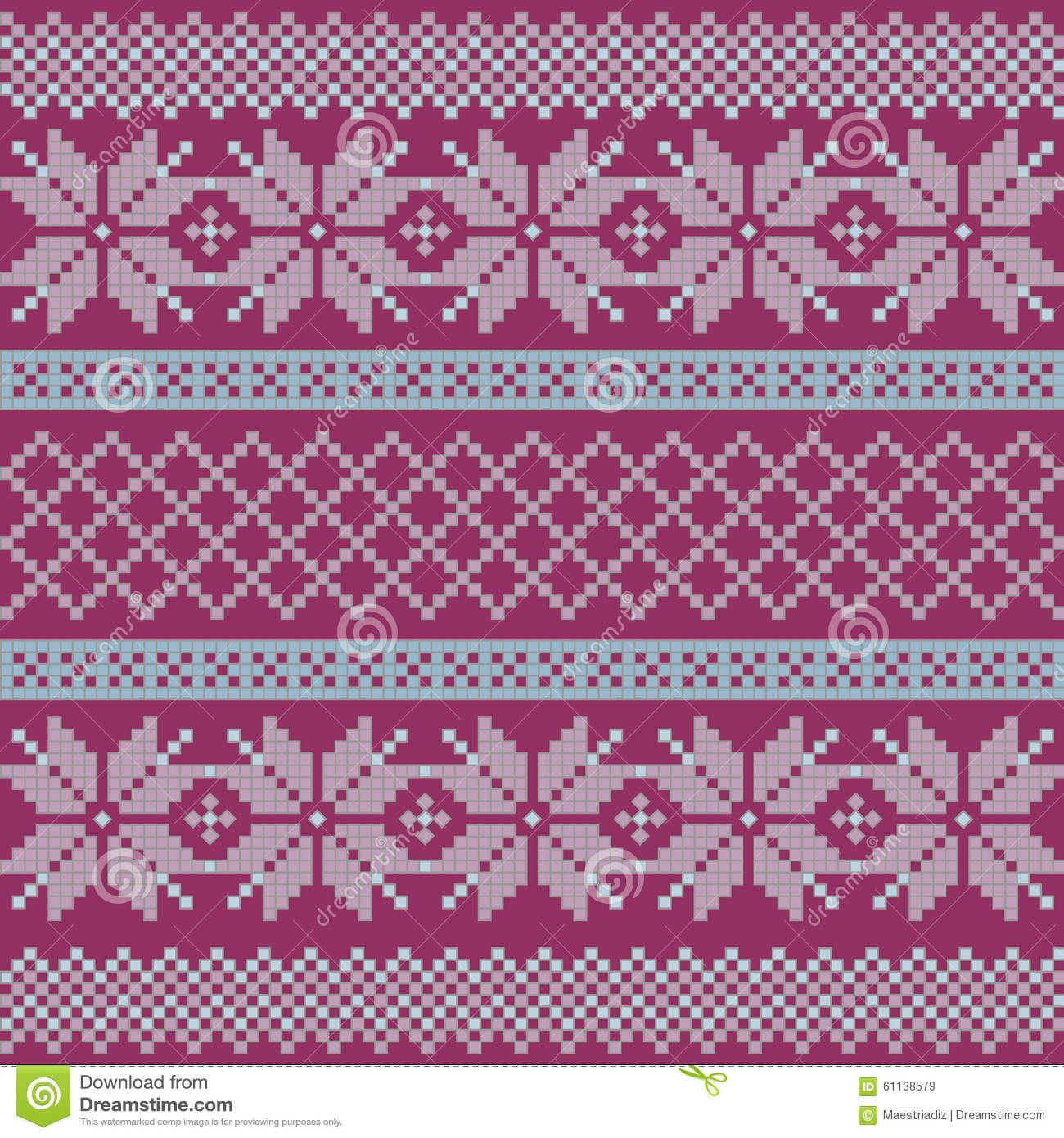 Norwegian Christmas And Winter Seamless Patterns Stock Vector   Image