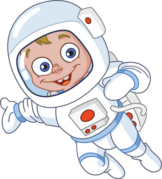 Preschool Animated Cartoon Space Astronaut Kids Boys Girls Picture Art