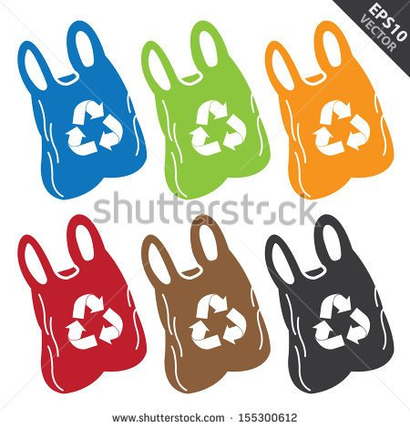 Recycle Plastic Bags Logo Plastic Bags Stock Photos