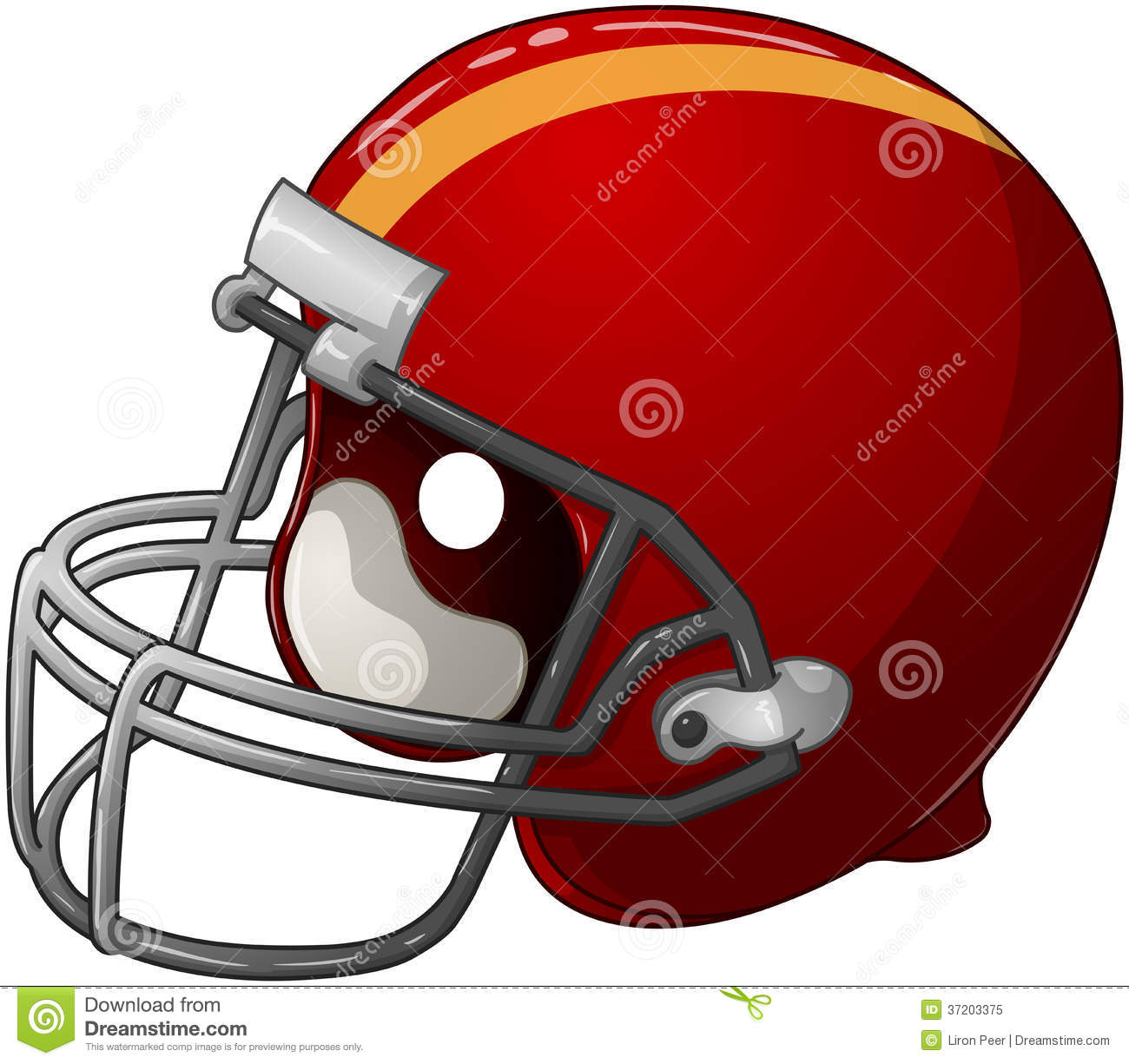 Red Football Helmet Royalty Free Stock Photo   Image  37203375
