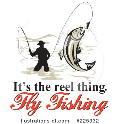 Royalty Free  Rf  Fly Fishing Clipart Illustration By Patrimonio