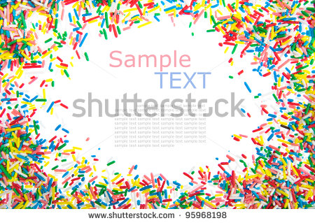 Sprinkles Border Clipart Frame Made Of Little Colorful