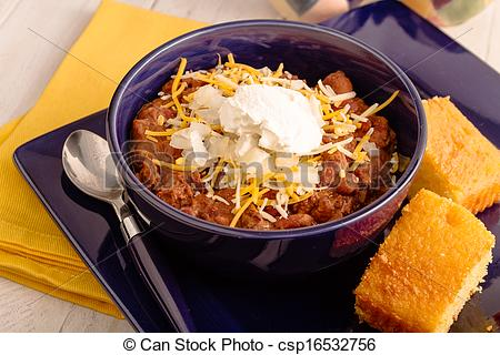 Stock Photo   Elk Chili And Cornbread   Stock Image Images Royalty