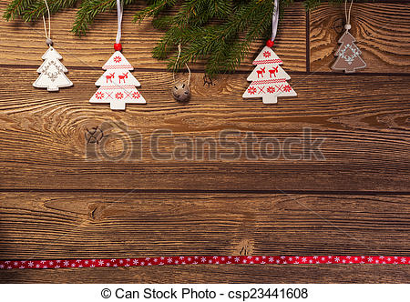 Stock Photography Of Christmas Decoration Fir Branch Norwegian Themed