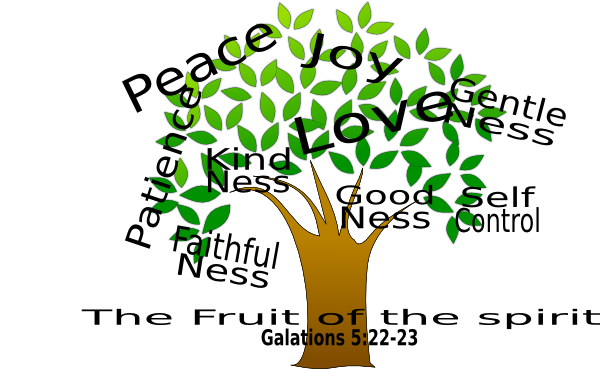 Fruit of the Spirit with Bible Clip Art