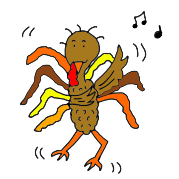 Turkey Dancing His Fat Off Clipart