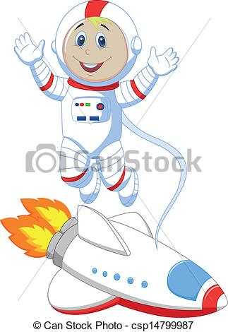 Vector Of Cute Astronaut Cartoon   Vector Illustration Of Cute