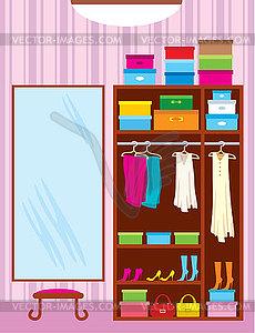 Wardrobe Room Furniture Vector Clip Art #nvALNu - Clipart Kid