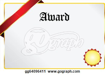 With Golden Ribbon Isolated On White  Clipart Drawing Gg64096411