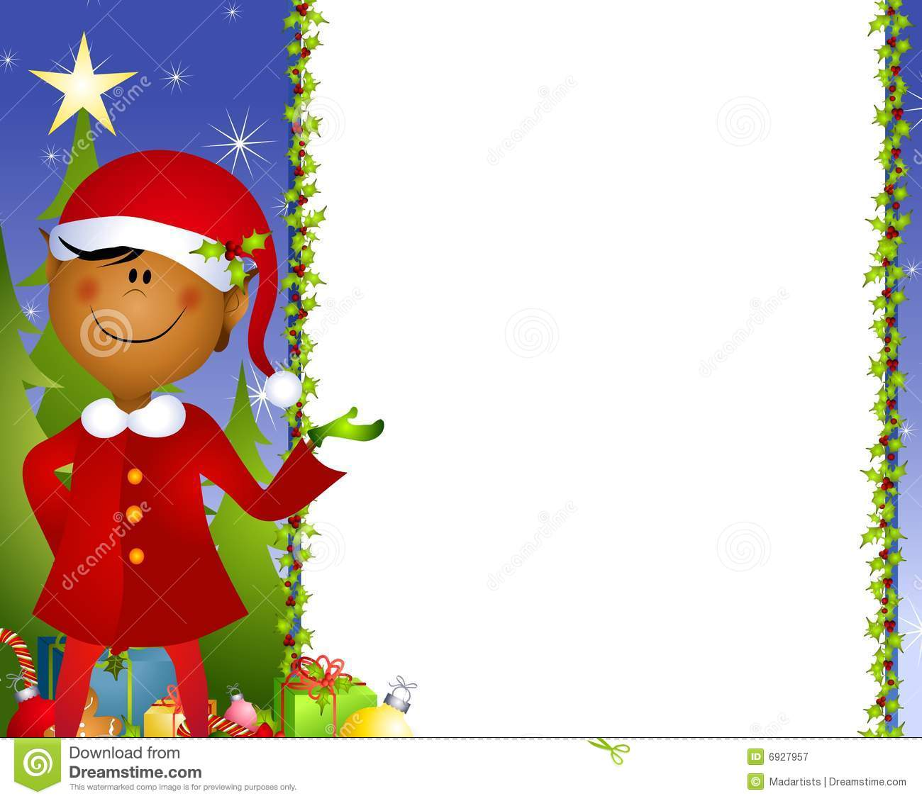 Xmas Elf Background 2 Royalty Free Stock Photography   Image  6927957