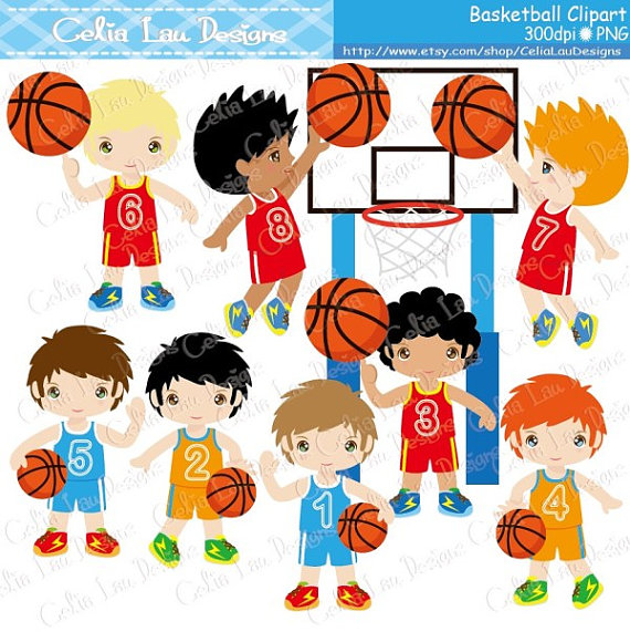 Basketball Clipart   Basketball Birthday Party Clip Art   Sport Party