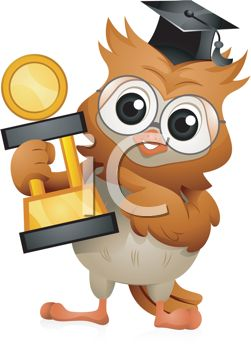 Graduation Clipart   Graduate Owl With Trophy
