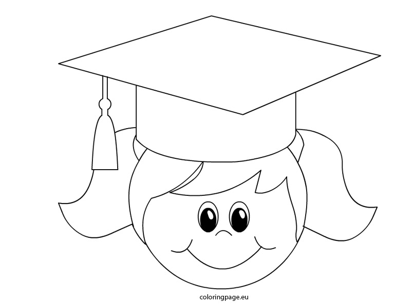 Graduation Girl   Coloring Page